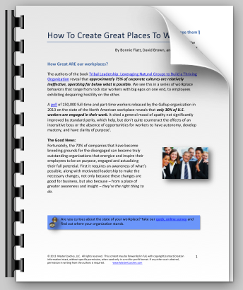 How To Create Great Places To Work